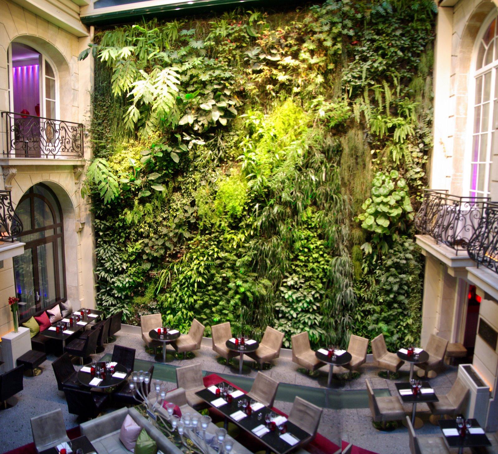 Jardines verticales hotel